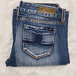 Seven7 bootcut rope back pockets size 29 NWOT